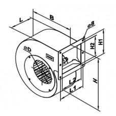 VCU 2E 160x 62 Ventilator Centrifugal