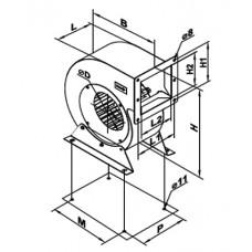 VCUN 140x 74-37-2 Ventilator Centrifugal