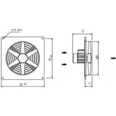 Ventilator axial de perete 6 - 900T 30