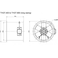 THGT4-400-6/-0,55 Ventilator 4 poli